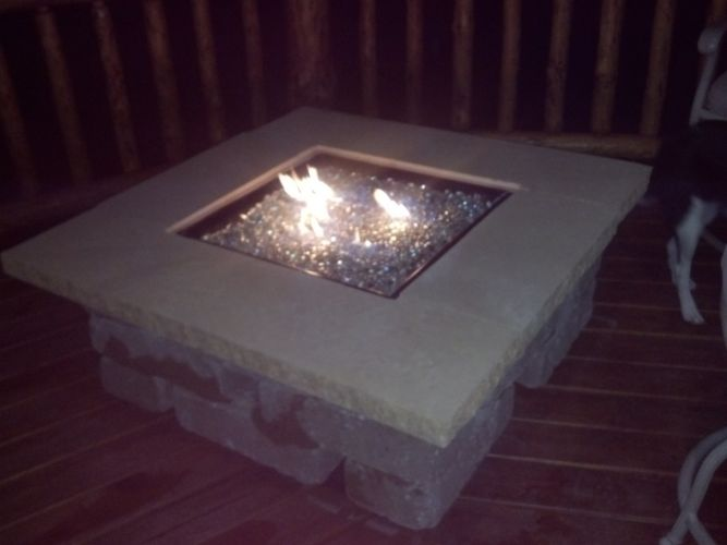 Outdoor Gas Fire Pit - Glass