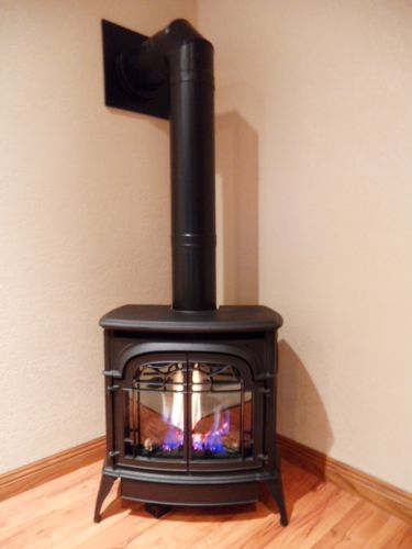 Free Standing Gas Fireplace - Standard Vent Kit