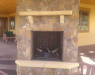 Outdoor Gas Fireplace -Patio