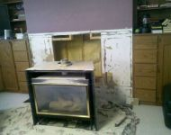 Replacing Old Gas Fireplace - Removal