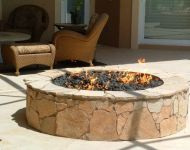 Outdoor Firepit - Lava Rocks